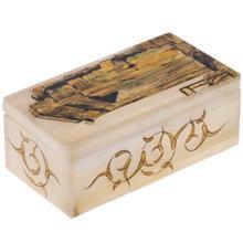 جعبه سنگ مرمر اثر بابايي طرح تخت جمشيد سايز 15 × 8 سانتي متر