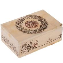 جعبه سنگ مرمر اثر بابايي خوشنويسي و ان يکاد و سوره کوثر سايز 15 × 10 سانتي متر