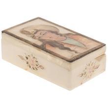 جعبه سنگ مرمر اثر بابايي طرح زن صفوي سايز 12 × 7 سانتي متر