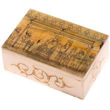 جعبه سنگ مرمر اثر بابايي طرح هديه دهندگان هخامنشي سايز 15 × 10 سانتي متر