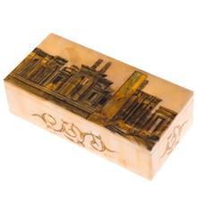 جعبه سنگ مرمر اثر بابايي طرح تخت جمشيد سايز 20 × 10 سانتي متر