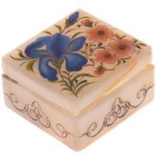 جعبه سنگ مرمر اثر بابايي طرح گل زنبق سايز 7 × 7 سانتي متر