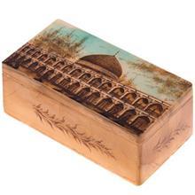 جعبه سنگ مرمر اثر بابايي طرح مسجد شيخ لطف الله سايز 15 × 8 سانتي متر