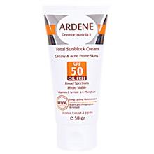 Ardene Sunscreen Cream Oil Free SPF50