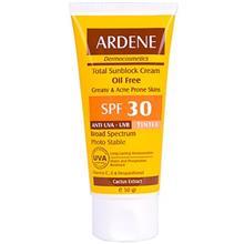 کرم ضد آفتاب رنگي فاقد چربي آردن SPF30
