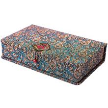 جعبه کارد و چنگال ترمه سنا مدل لوکس طرح ياس فيروزه اي