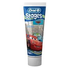 خمیر دندان اورال-بی مدل Stages Cars تیوب 75 میلی لیتر