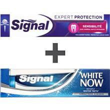 پک خمیردندان سیگنال مدل Expert Protection Sensibiliti And White Now Original حجم 75 میلی لیتر- بسته 2 عددی