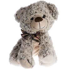 عروسک پوليشي مدل خرس نشسته فرفري سايز متوسط