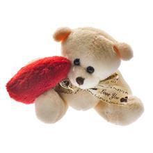 عروسک پوليشي مدل خرس قلب به دست سايز کوچک