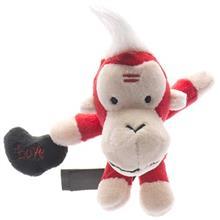 عروسک پوليشي پاليز مدل ميمون قرمز سايز کوچک