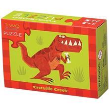 پازل 24 تکه کروکوديل مدل Tow Sided Puzzle Dinosaurs