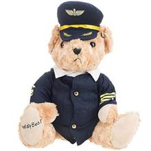 Russ Pilot Bear Plush Doll Size Medium