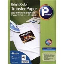 Printec A9115 Bright Color Transfer Paper