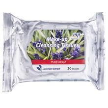 دستمال مرطوب پاک کننده آرايش پيوردرم مدل Lavender Extract - بسته 30 عددي