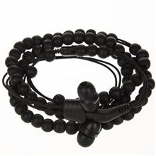 Wraps Natural Beaded Wristband Headphones