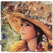 Yenilux Farm Girl Cushion Cover