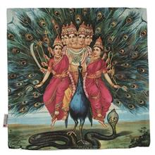 Yenilux Peacock and Girls Cushion Cover