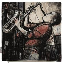 کاور کوسن ینیلوکس مدل Saxophone