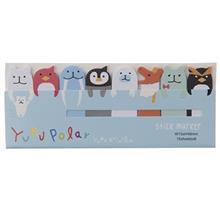 کاغذ یادداشت چسب دار سری Yuru Animal طرح Yuru Polar - بسته 120 عددی