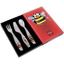 ست قاشق و چنگال و چاقو چيني زرين ايران سري کيدز اورينت مدل Bumblebee