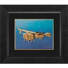 تابلوي طلاکوب زرسام طرح سکوي پارس جنوبي سايز 35 × 40 سانتي متر