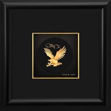 تابلوی طلاکوب زرسام طرح Eagle Little Round سایز 25× 25 سانتی متر