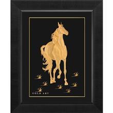 تابلوي طلاکوب زرسام طرح Horse Vertical سايز 45 × 55 سانتي متر