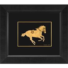 تابلوي طلاکوب زرسام طرح Race Horse Number 13