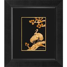 تابلوی طلاکوب زرسام طرح Two Storks 3D سایز 40 × 35 سانتی متر