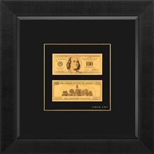 تابلوی طلاکوب زرسام طرح اسکناس دلار سایز 38 × 38 سانتی متر