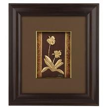 تابلوي طلاکوب زرسام طرح گل زنبق سايز 35 × 40 سانتي متر