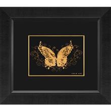 تابلوی طلاکوب زرسام طرح رخ و پروانه سایز 35 ×40 سانتی متر