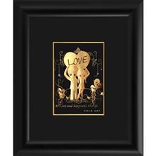 تابلوی طلاکوب زرسام طرح دختر و پسر سایز 25 × 30 سانتی متر