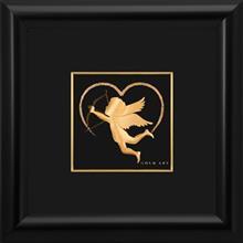 تابلوی طلاکوب زرسام طرح الهه عشق سایز 25 × 25 سانتی متر