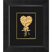 تابلوی طلاکوب زرسام طرح قلب و کلید سایز 35 × 40 سانتی متر