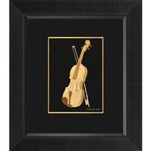 تابلوی طلاکوب زرسام طرح Violin سایز 35 × 40 سانتی متر