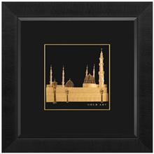 تابلوي طلاکوب زرسام طرح مسجدالنبي سايز 38 × 38 سانتي متر
