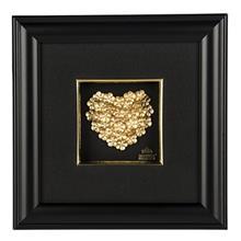 تابلوی طلاکوب زرسام طرح قلب ریزه سایز 25 × 25 سانتی متر