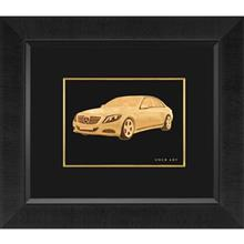 تابلوي طلاکوب زرسام طرح Benz سايز 40 × 35 سانتي متر