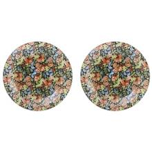 بشقاب پلو خوری شیشه ای گل دار گالری سیلیس مدل 180009 مجموعه دو عددی