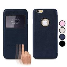 Apple iPhone 6 Plus and iPhone 6S Plus Remax Kingdian Swipe to Answer Call Folio Window Leather Case