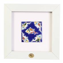 قاب کاشی هفت رنگ گنجینه میراث مدل 128011 طرح پنج ماهی