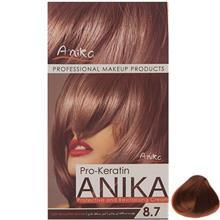 کيت رنگ مو آنيکا سري Pro Keratin مدل Nescaffee شماره 8.7