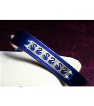 دستبند چرم زنانه کد111 گالری سان سیلور