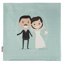 Yenilux bride and groom Cushion Cover
