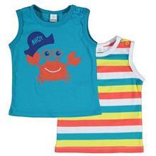 تی شرت پسرانه LC WalKiKi بسته ۲ عددی سایز ۱۲ تا ۱۸ ماه