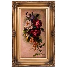 تابلو فرش گالری سی پرشیا طرح گل و انگور کد 901144