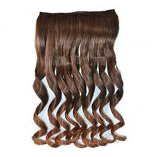 Abwin Muedium Brown to Golden Brown Wavy Clip in Hair Extensions
