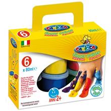 Carioca 6 Color Finger Paints
